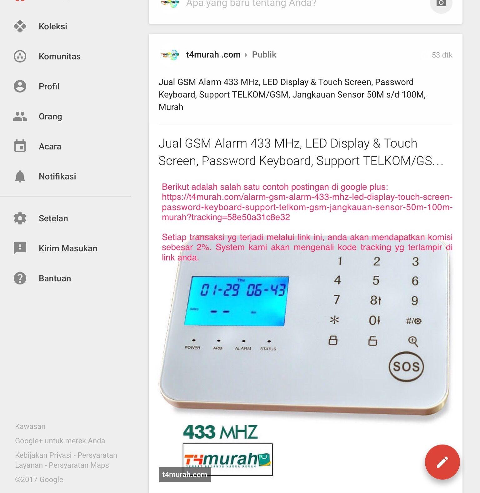 Penerapan Link Afiliasi di Google Plus